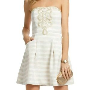 Lilly Pulitzer Gold and Cream Dress